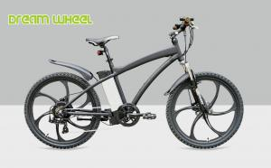 China Black 26 Electric Mountain Bicycle Magnesium Alloy Complete Wheel Motor For Man on sale