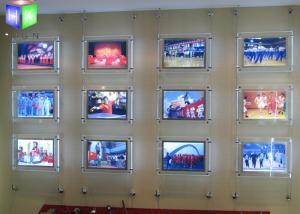 China Photo Frame Crystal LED Light Box Estate Agent Window Display Units Illuminated on sale
