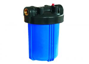 China Big Blue Plastic Cartridge Filter Vessels Housing Dia 4-1/2 L 10 Inch With Vent Valve For Pretreatment Of RO on sale