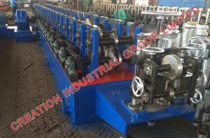 China Horizontal Bracket Rack Roll Forming Machine With Hydraulic Post Cutting on sale