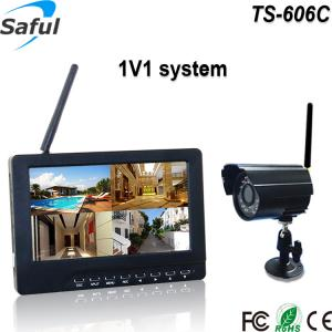 "China CMOS 300,000 pixels camera 7""TFT full hd indoor monitor cctv camera with memory card with sound on sale"