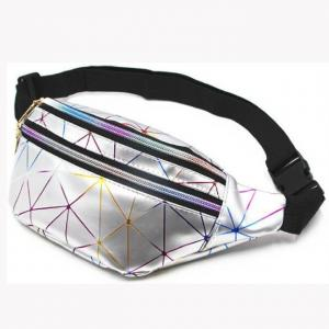 China Holographic Diamond Color Laser PU Leather Waist Pack on sale