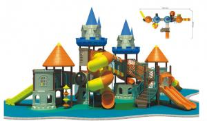 China Solid Backyard Safe Outdoor LLDEP Plastic Kids Castle Playground Equipment on sale