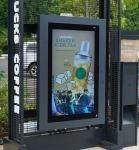 IP65 Waterproof Freestanding Outdoor Digital Signage With Anti Theft Function