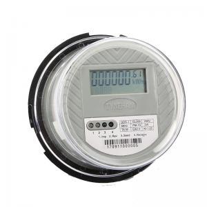 China Socket 1 Phase Digital Energy Meter , KWH Meter Digital 1 Phase ANSI Standard on sale