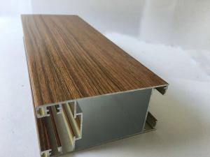 China Square Wood Finish Aluminium Profiles Extrusions For Led Strip Lighting Corrosion Resistance on sale