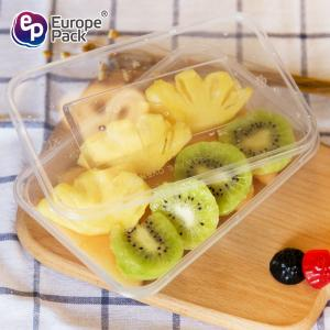 China Eco friendly PP disposable plastic food container clear lunch box with lids on sale
