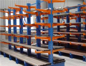 China Muliti Lever Metal Cantilever Storage Rack For Lumber /  Plywood / PVC Storing on sale