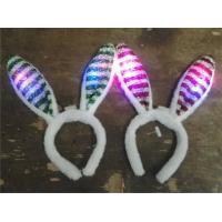 Women Girl Flashing Light Up Rabbit Ears Bunny Headband Party Halloween Fancy Dress Headwear