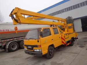 China JMC 14M Aerial Platform Truck , 6 Wheel Aerial Bucket Truck 14 Meter on sale