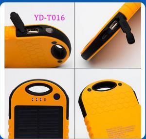 China Portable Waterproof Cell Phone Solar Charger 12000mA for iPhone 6 plus CE/FCC/ROHS/MSDS on sale
