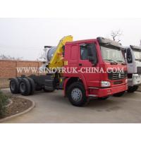 China Reliable Truck Mounted Hoist / LHD 336HP Lorry Mounted Crane For Goods Lift on sale