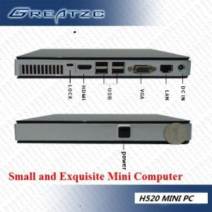 China HD Ultra Small Mini PC Computer With INTEL ATOM D525 Dual Core CPU on sale