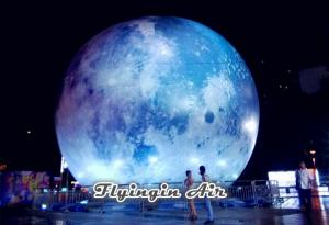 China 5m/6m Outdoor Decorative Inflatable Moon with Light for Party and Concert on sale