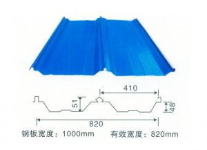 China Colored Corrugated Steel Roofing Sheets Good Water Drainage System on sale