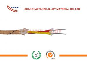 China Single Core Thermocouple Cable Chromel Alumel Thermocouple Fiberglass Wire Type k on sale