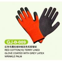 Custom mens and womens 11, 12, 13 inch Acrylic yarn Latex Coated Work Glove