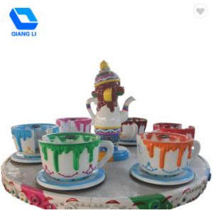 China 24 Persons Amusement Park Thrill Rides Family Play Coffee Cup Ride OEM / ODM Available on sale
