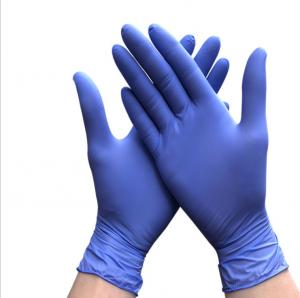 China Non Medical AQL1.5 Disposable Nitrile Gloves Chemical Resistance on sale
