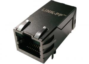 China Rj45 Power Over Ethernet RJMG1010211A0NR Rj Mag 10/100 Single Port With Leds on sale