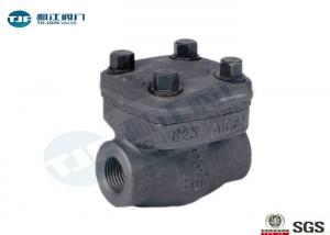 China Horizontal Piston Type Non Return Check Valve NPT Threaded Forged A105 Made on sale