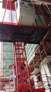 China Double Cage small Construction Elevator  SC100 / 100 CE ISO on sale