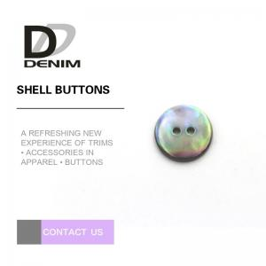 China Large Size 2 Holes Liser Pearl Shell Buttons Non - Toxic With Dyed To Match on sale