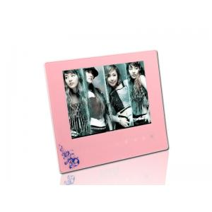 China Pink 8 USB 2.0 LCD High Resolution Digital Picture Frame With Music on sale