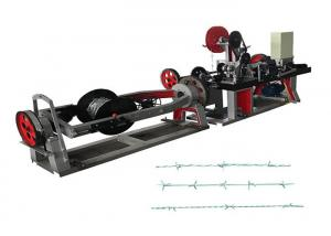 China 70kg / Hour Fully Automatic Barbed Wire Machine Simple Structure In Linear Type on sale