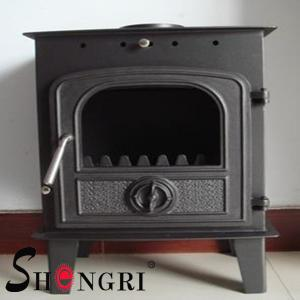 China 6KW wood casting iron stoves forest paint surface on sale