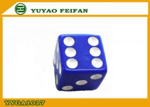 China ROHS / SGS Acrylic Gambling Blue Poker Dice Set Custom Printed Dice on sale