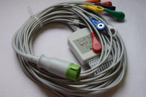 China Lifepak Physio Control Compatible EKG Cable,Medtronic 10 lead EKG cable on sale