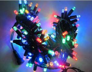 China Hot  sale 110v 120v 100led RGB twinkle Christmas string lights 10m flashing with controller on sale