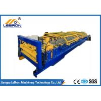 PG and PI material 2018 New type joint hidden roof panel roll forming machine blue and yellow color  made in china