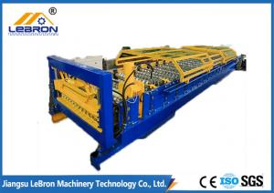 China PG and PI material 2018 New type joint hidden roof panel roll forming machine blue and yellow color  made in china on sale