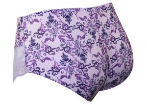 57562beba ... Quality Ladies Satin Hi - Cut Brief Plus Size Panties with High waist