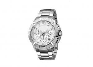 China Solid Band Water Resistant Stainless Steel Watch Gent Collection Screw Crown on sale