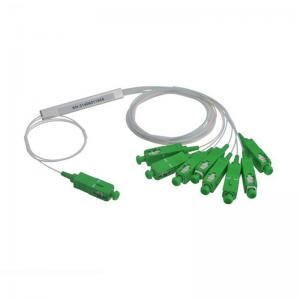 China FTTH GPON SC APC PLC Fiber Optic Splitter 1x8 With Various Coupling Ratio on sale