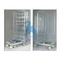 China Galvanized Wire Mesh Security Cage , Turn Over Type Rolling Security Cage on sale