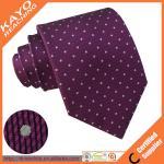 stripe woven custom polyester tie