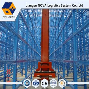 China Heavy Duty Storage Shelves With Conveying System , Asrs Adjustable Shelving Systems on sale