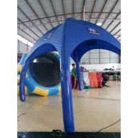 China 3 * 3M PVC Blue Inflatable Tent / Outdoor Advertising Tent With Logo Printing on sale