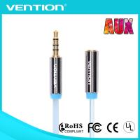China Flat 4 Pole Male to Female Aux Audio Cable for Car 3.5mm Stereo Audio Jack Cables on sale