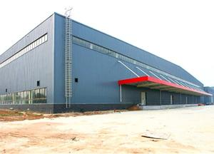 China Large Span Metal Storage Buildings Glass Wool Sandwich Panel Equipped on sale