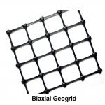 Black Soil Grid Pp Biaxial Geogrid / 40kn Geogrid For Road Construction