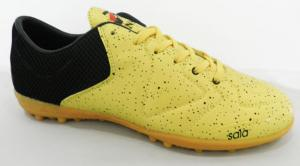 China Breathable Air Pu Orange Mens Football Boots OEM / ODM Accepted on sale