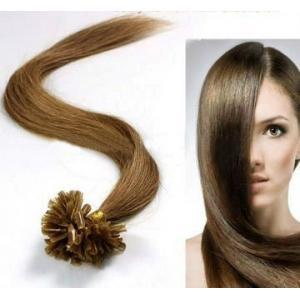China Femelle brun U - astuce 100 % Remy personnes pré collé Extension de cheveux on sale
