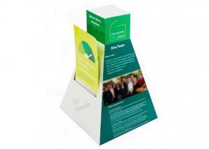China Multi - pockets Cardboard Brochure Holders Counter Top for Leaflet Display on sale