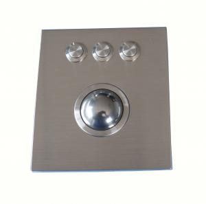 China Military Ruggedized 38mm Optical Trackball Pointing Device Top Panel Mount Vandal Resistant on sale