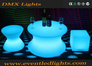 China Illumination Glowing Led Pub Table / Light Up Furniture Cocktail Table With Remote Controller on sale